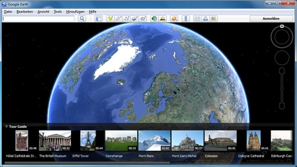 Google-Earth-Patent: ART+COM verklagt Google. Google Earth (Quelle: Google)