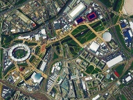 Olympisches Dorf in London. (Quelle: DigitalGlobe)
