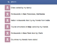 Graph Search: Orte, Restaurants finden (Quelle: Facebook)