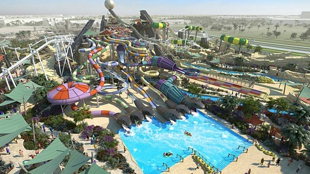 Yas Waterworld Abu-Dhabi: Mega-Wasserpark der Superlative. Yas Waterworld (Quelle: Abu Dhabi Tourism)