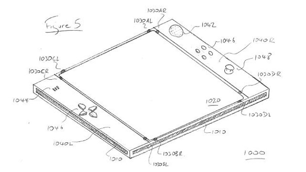 "PS4: Sony patentiert ""Eyepad""-Controller. Sonys ""Eyepad"" Patent (Quelle: Sony)"