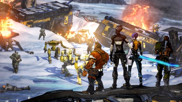 Borderlands: Multiplayer-Part auch auf PS3 wieder da. Borderlands 2 (Quelle: Gearbox)