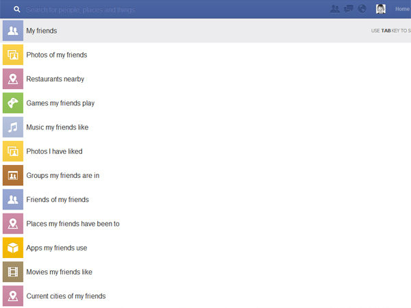 "Facebook: Graph Search ""My friends"" (Quelle: t-online.de)"