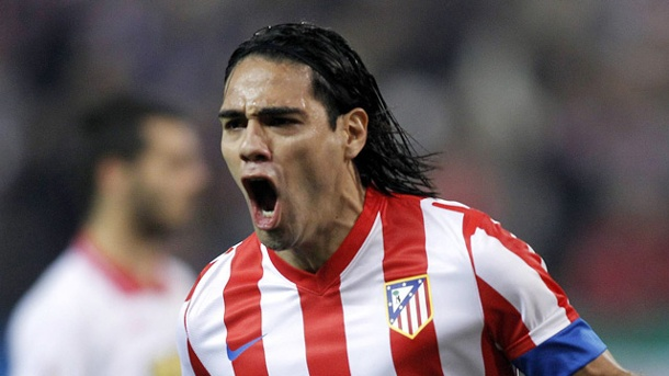Falcao zu Manchester United? . Radamel Falcao von Atletico Madrid.  (Quelle: imago/Alterphotos)