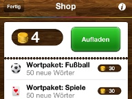 In-App-Käufe (Quelle: Screenshot/ Games for Friends)