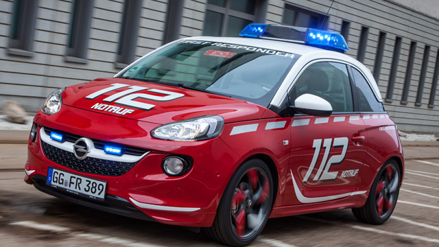 opel adam f r die feuerwehr. Black Bedroom Furniture Sets. Home Design Ideas