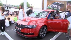 Skoda: Weltpremiere der Studie Rapid SPORT (Screenshot: United Pictutes.TV)
