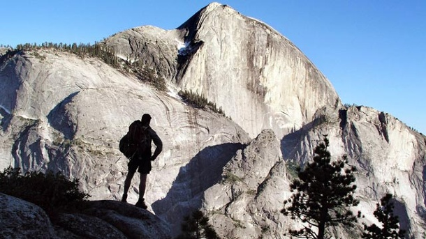 Bergsteigen in Kalifornien: der Half Dome im Yosemite-Nationalpark. Der Half Dome im Yosemite-Nationalpark. (Quelle: dpa)