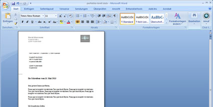 Word: Den perfekten Brief gestalten mit Microsoft Office