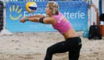 Beach-Duo Ludwig/Walkenhorst mit Gruppensieg in Rom. Beachvolleyballerin Laura Ludwig in Aktion.