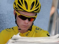 Der Mann in Gelb: Christopher Froome. (Quelle: dpa)