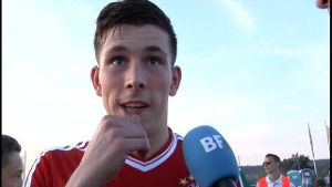 Pierre-Emile Hojbjerg im Interview (Screenshot: BFV-TV)