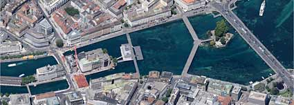 Rhone in Genf. (Quelle: Google Maps)