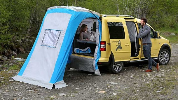 VW Caddy Cross Tramper: Günstiger Camper. VW Caddy Cross Tramper (Quelle: Hersteller)