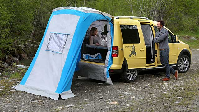 vw caddy cross tramper g nstiger camper. Black Bedroom Furniture Sets. Home Design Ideas