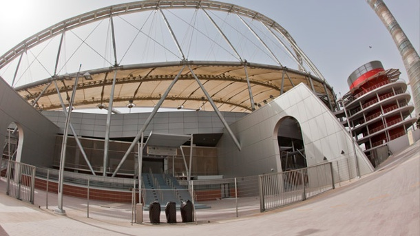 WM 2022 in Katar ist mehr als ein Terminproblem. Das Khalifa International Stadium in Doha. (Quelle: imago/picture alliance)