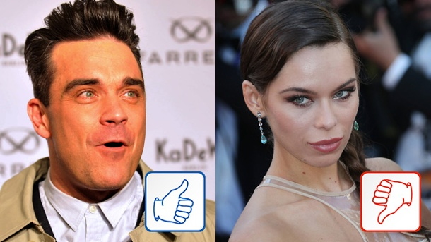 Robbie Williams & Liliana Matthäus: Top & Flop des Tages. Robbie Williams und Liliana Matthäus (Quelle: dpa/imago xim gs)