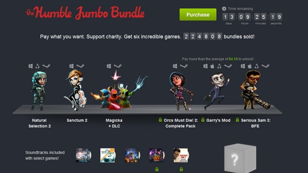 Humble Jumbo Bundle: Sechs Multiplayer-Indiegames am Start. Humble Jumbo Bundle (Quelle: Humble Tip)