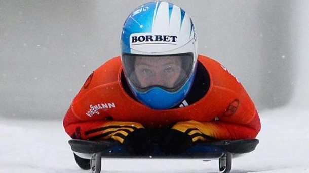 Skeleton-Pilotin Thees Sechste in Lake Placid. Marion Thees wurde beim Weltcup in Lake Placid Sechste.