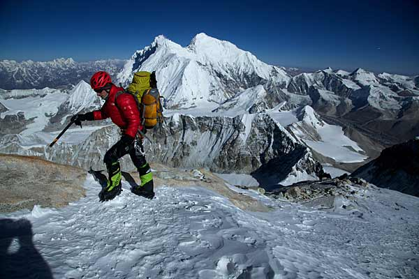Himalaya: David Göttler am Makalu. (Quelle: The North Face)