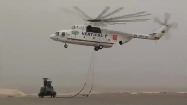 Russischer Super Helikopter Mi 26 Zeigt Seine Ganze Starke Screenshot Bit Projects