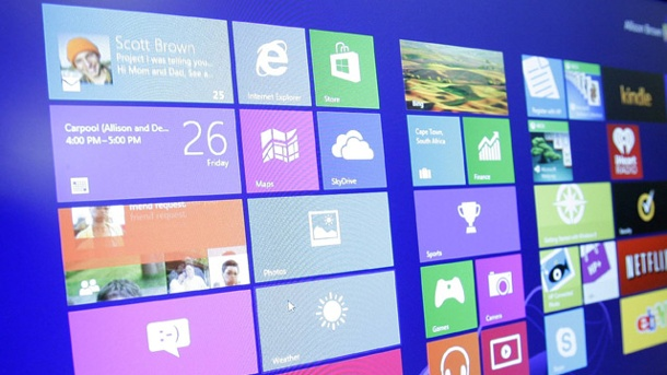 Windows 9 als Gratis-Update für Windows 8-Nutzer. Windows 8 (Symbolbild) (Quelle: imago images/UPI Photo)