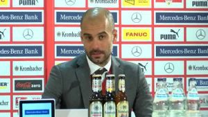 Guardiola zum Last-Minute-Sieg. (Screenshot: Omnisport)