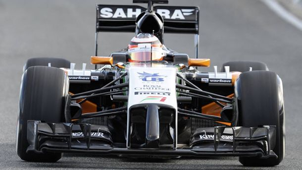 Der Force-India-Bolide von 2014. (Quelle: imago/Kolvenbach)