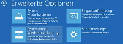 Reparaturfunktionen im Boot-Manager von Windows 8.1 (Quelle: t-online.de)