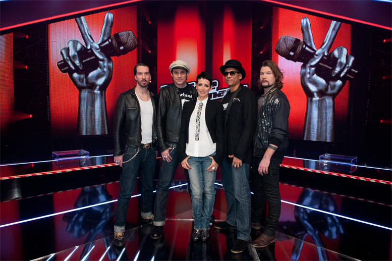 The Voice Jury 2012 (Quelle: dpa)