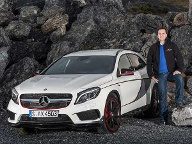 "wanted.de-Autor Christian Sauer testete den Mercedes-Benz GLA 45 AMG mit 360 PS als exklusives Sondermodell ""Edition 1"" in Spanien.  (Quelle: Mercedes-Benz)"