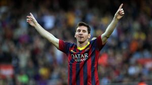 Superstar Lionel Messi feiert Treffer Nummer 370. (Foto: imago/Action Plus)