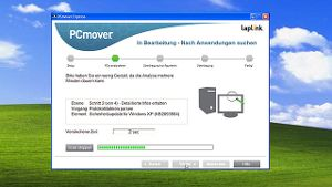 Screenshot der Umzugs-Software PCmover (Quelle: t-online.de)