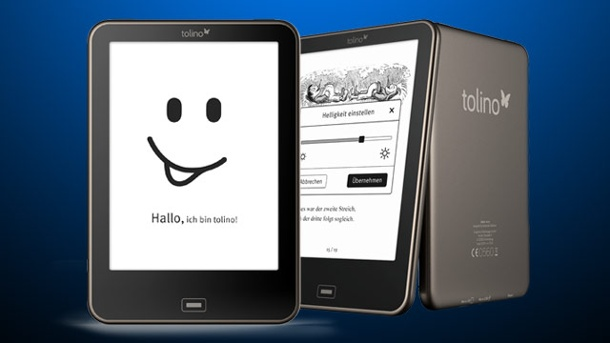 E-Book-Reader tolino vision soll Amazon Kindle vom Thron stürzen. E-Book-Reader tolino vision (Quelle: t-online.de)