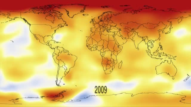 NASA-Animation zeigt globale Temperaturentwicklung (Screenshot: NASA)