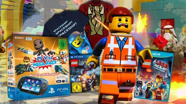 Großes LEGO Der Hobbit und The LEGO Movie Videogame-Gewinnspiel. Gewinnpakete mit LEGO Der Hobbit, The LEGO Movie Videogame und einem PlayStation® Vita Mega Pack (Quelle: Warner Bros. / Sony (Montage: t-online.de))