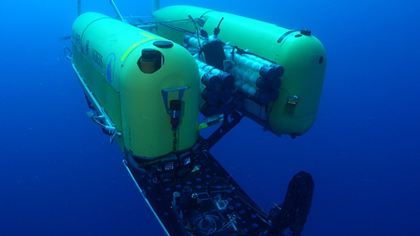 "Drama in der Tiefsee: Hightech-Tauchroboter ""Nereus"" zerstört. Der Tiefseeroboter ""Nereus"" kostete acht Millionen Dollar (Quelle: Advanced Imaging and Visualization Lab /Woods Hole Oceanographic Institution)"