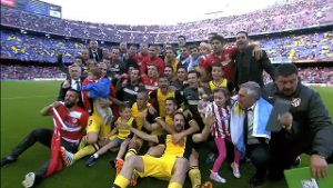 Atletico sichert sich den Titel beim FC Barcelona (Screenshot: Laola1.tv)