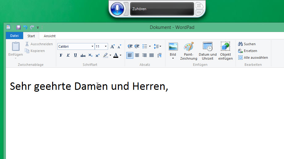 Brieftext in Word mit Windows 8.1 diktieren (Quelle: t-online.de)
