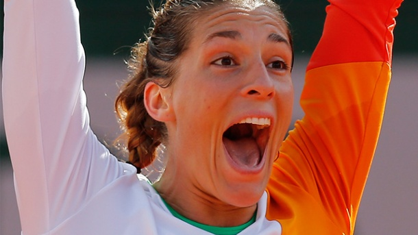 Andrea Petkovic feiert bei French Open 2014 großen Erfolg. Andrea Petkovic. (Quelle: AP/dpa)