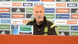 Spaniens Trainer Vicente del Bosque.
