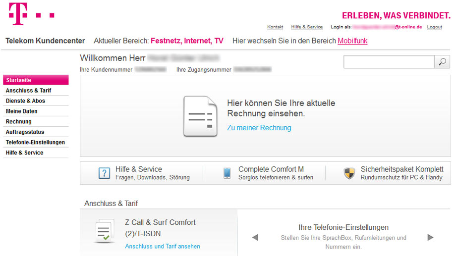 www telekom de kundencenter rechnung telekom kundencenter. Black Bedroom Furniture Sets. Home Design Ideas