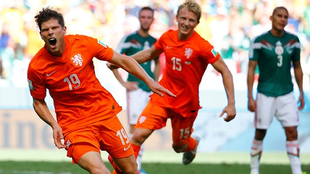 WM 2014: Holland durch Last-Minute-Elfmeter im Viertelfinale. Klaas-Jan Huntelaar (li.) (Quelle: Reuters)
