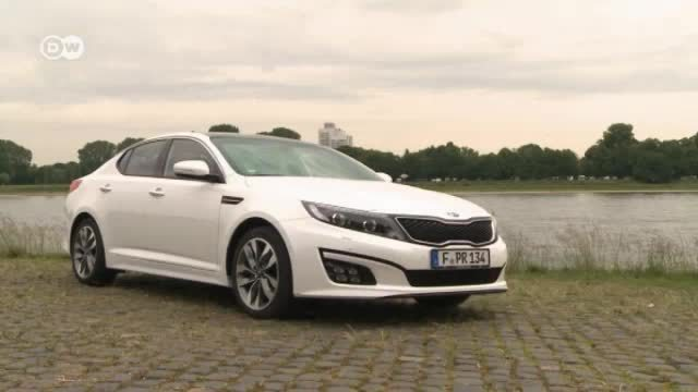 Kia stellt Facelift der Optima Limousine vor (Screenshot: Deutsche Welle)