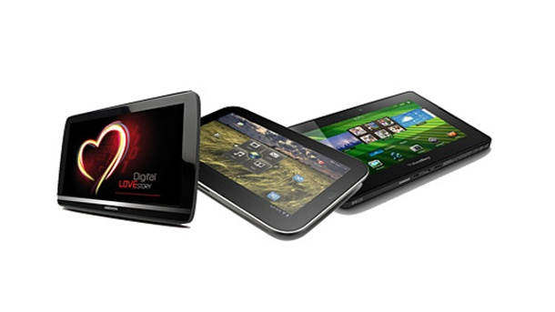 Tablet-PC: Preisgünstige iPad-2-Rivalen von Medion, Acer, Asus & Co.. Tablet-PC Medion Lifetab, Lenovo Ideatab und Blackberry Playbook (Quelle: Hersteller)