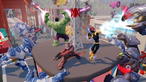 Superhelden zum Anfassen: Hands-on-Preview zum Actionspiel Disney Infinity 2.0. Disney Infinity Actionspiel von Disney Interactive für PS3, PS4, Xbox 360, Xbox One und Wii U (Quelle: Disney Interactive)