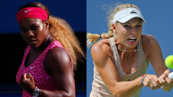Williams vs. Wozniacki: Im US-Open-Finale ruht die Freundschaft. Freundinnen, beim US-Open-Finale in New York Konkurrentinnen: Serena Williams (li.) und Caroline Wozniacki. (Quelle: dpa/AP)