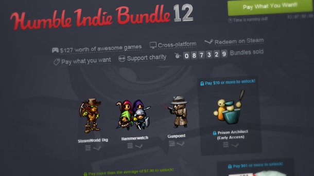 Humble Bundle brachte 50 Millionen Dollar an Spenden ein. Humble Indie Bundle 12 (Quelle: Humble Inc.)