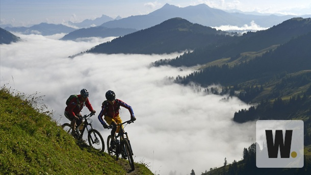 Mountainbiken in Gstaad. Mountain-Biken über den Wolken (Quelle: N. Eisele-Hein, srt)