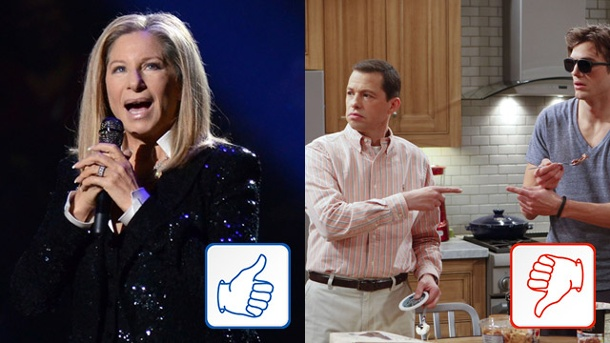"Top & Flop: Barbra Streisand und ""Two and a Half Men"". Barbra Streisand und ""Two and a Half Men"" (Quelle: dpa)"